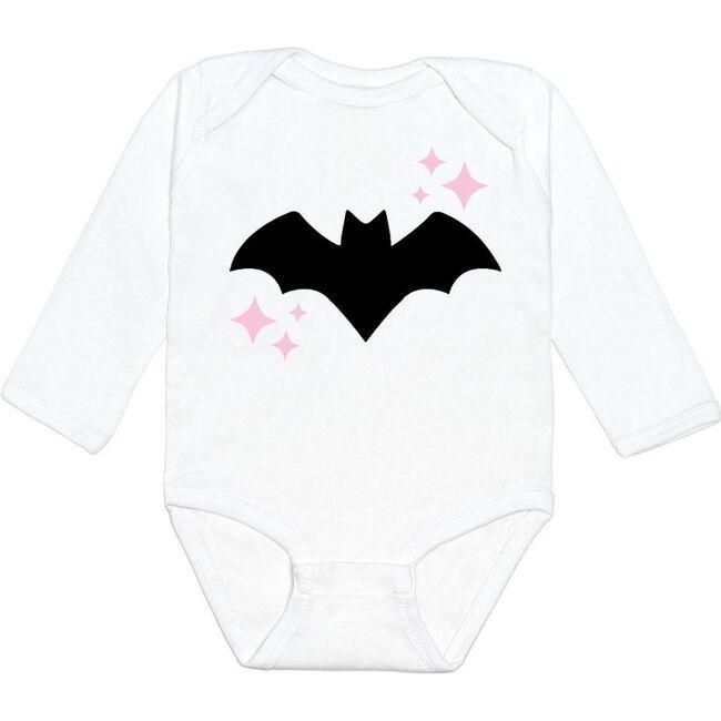 Bat L/S Bodysuit, White