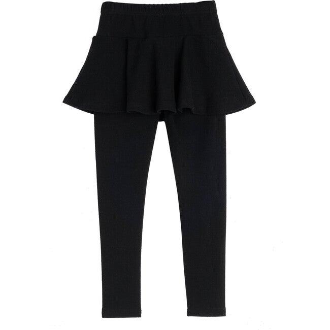 Luna Skirt Legging, Black