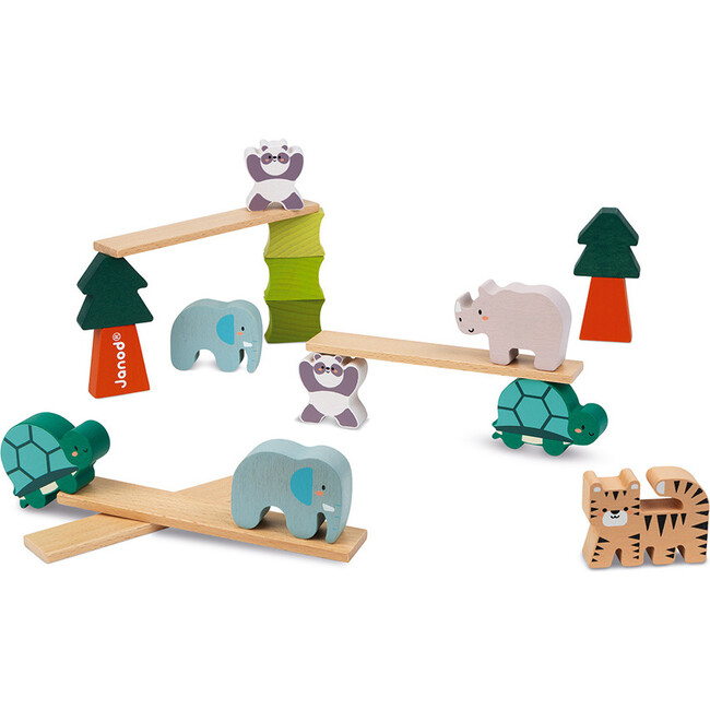Wooden Balancing Animals Game (in Partnership with WWF®) - Games - 1