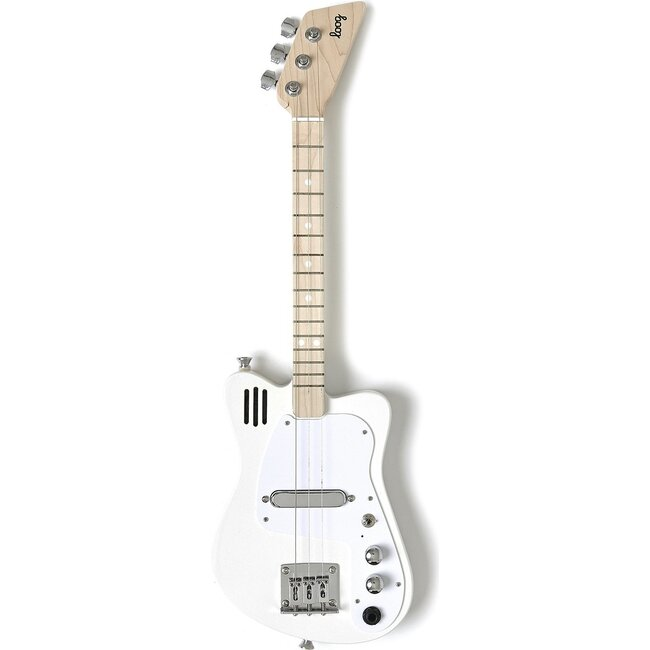 White Mini 3-String Electric Guitar