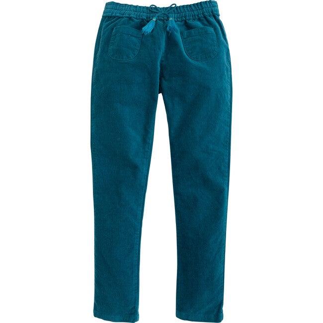 Pocket Pull on Pant, Turquoise Velvet