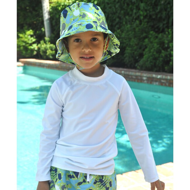 Rash Guard Swim Top, White