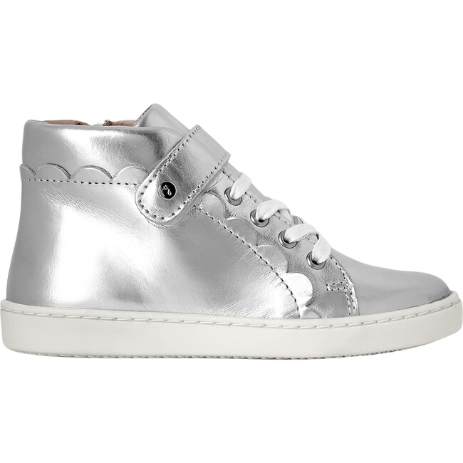 High Top Tennis Shoes, Silver