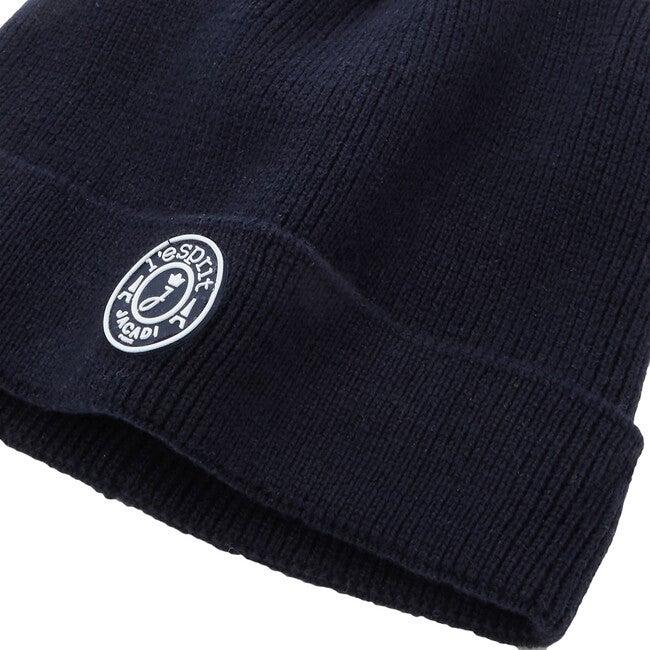 Toddler Polar Fleece Lined Hat, Navy Blue