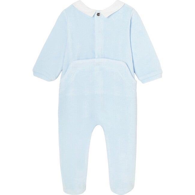 Baby Loop Velvet Footed Pajamas, Celestial Blue