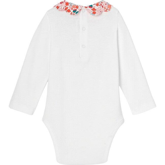 Toddler Liberty Collar Bodysuit, White