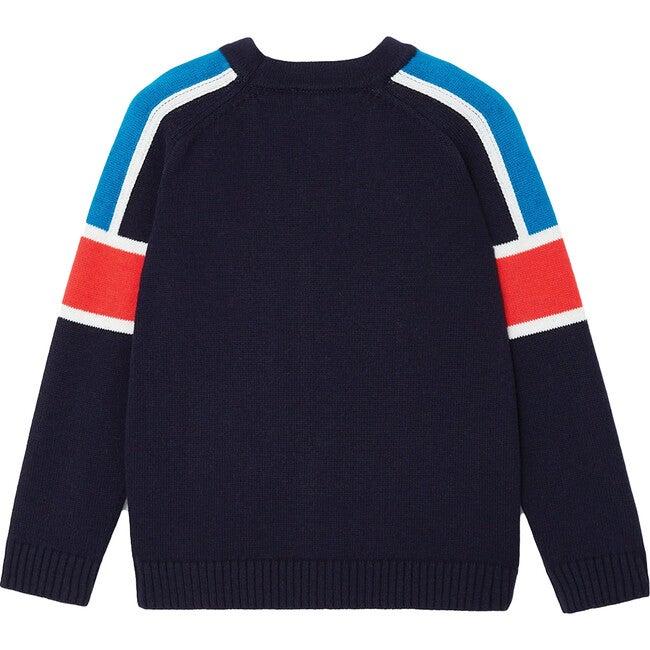 Color Block Cardigan, Navy Blue