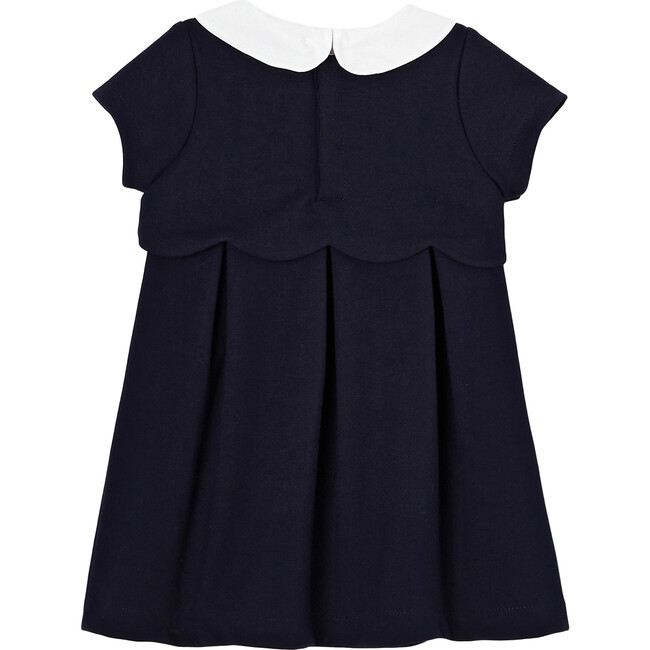 Toddler Milano Knit Dress, Navy Blue
