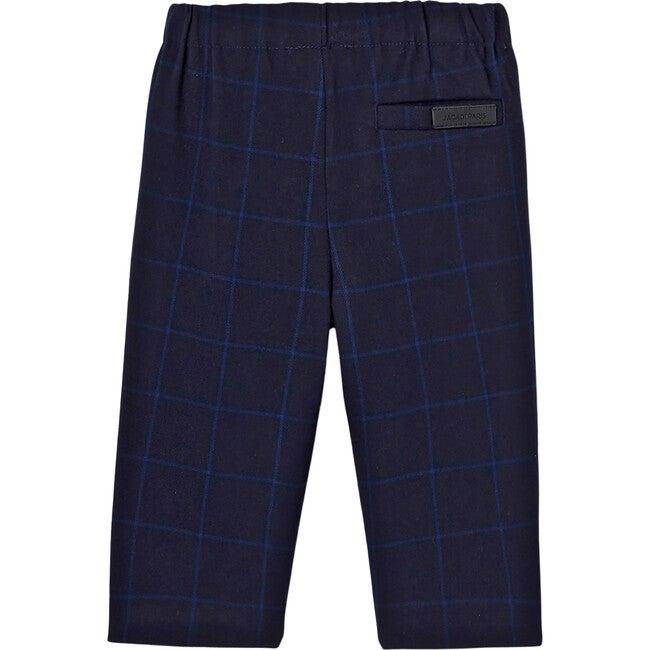 Toddler Check Pants, Navy Blue & Blue