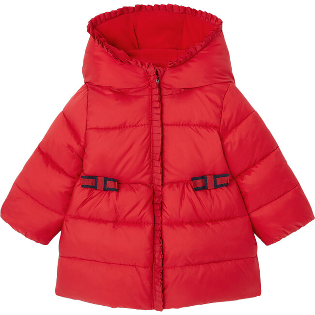 Toddler Puffer Jacket, Lacquered Red