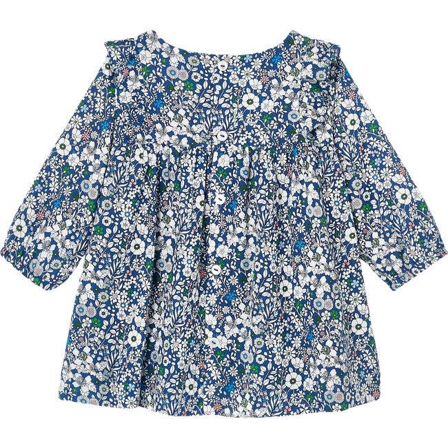 Baby Liberty Print Dress, Blue & Multi