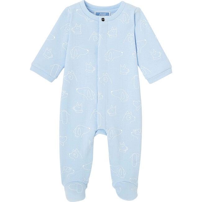 Baby Fleece Footed Pajamas, Blue