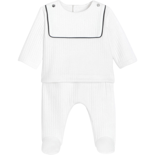 Baby Pants Set, White