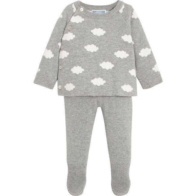 Baby Jersey Set, Grey & Natural