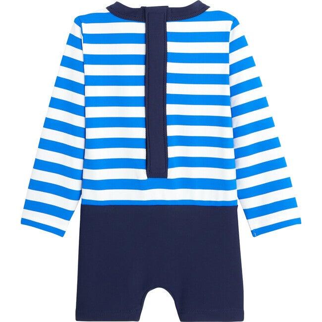 Toddler Uv Protection Swim Set, White & Blue