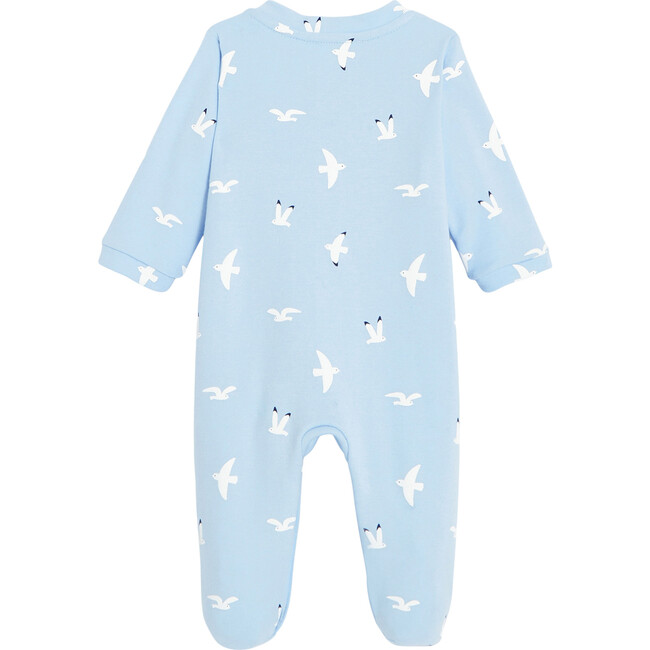Baby Little Seagulls Footed Pajamas, Blue