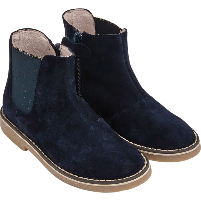 Chelsea Boots, Navy Blue