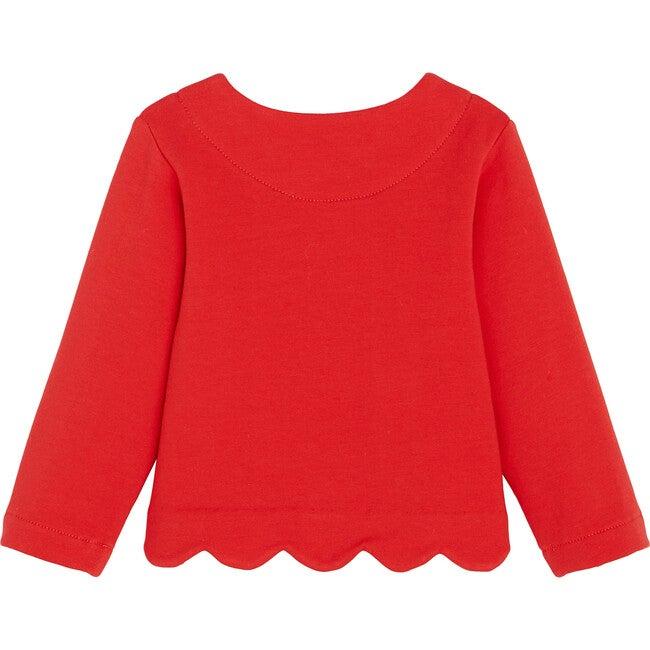 Toddler Fleece Cardigan, Laquered Red