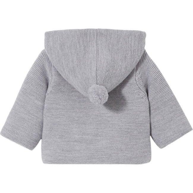 Baby Knit Jacket, Chine Grey