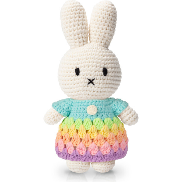 Miffy and her Pastel Rainbow Dress