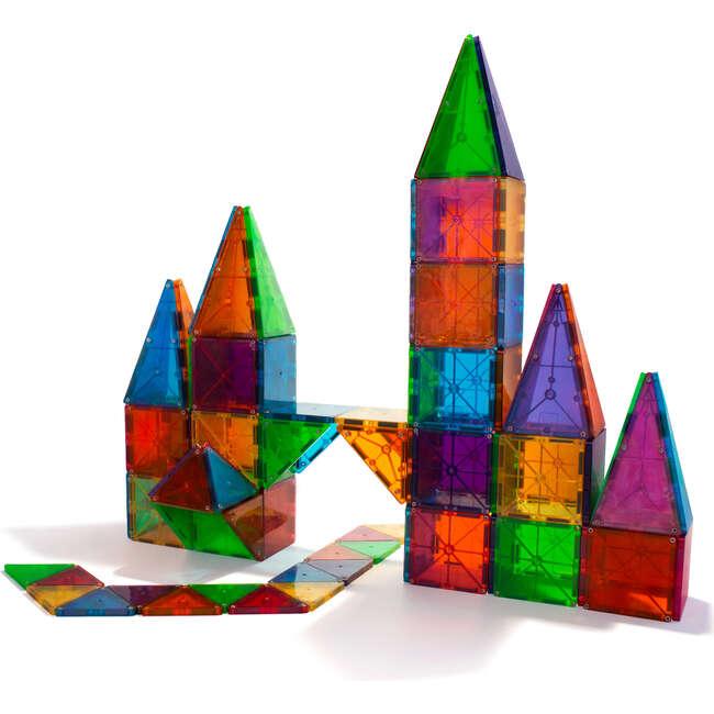 Magna-Tiles Clear Colors 100-Piece Set - STEM Toys - 1