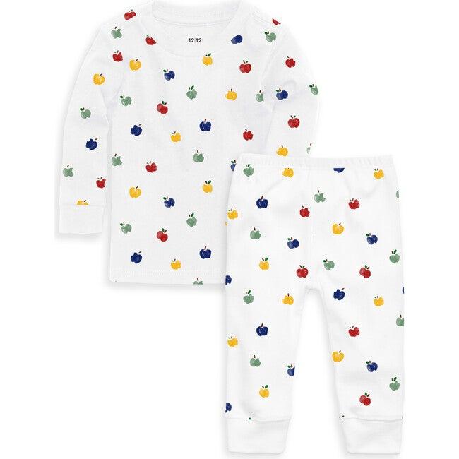 Organic Long Sleeve Pajama Set, Apples