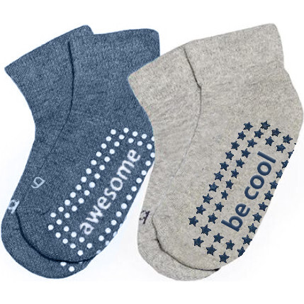 Tommy 2 Pack Grip Socks, Multi - Socks - 1