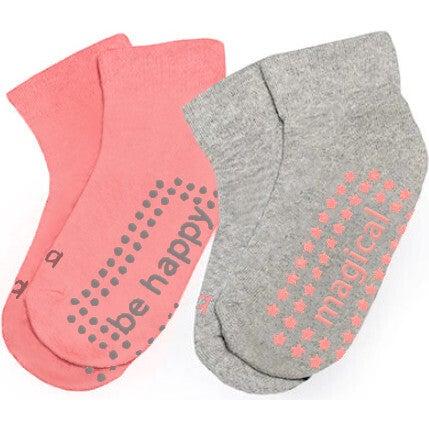 Josie 2 Pack Grip Socks, Multi