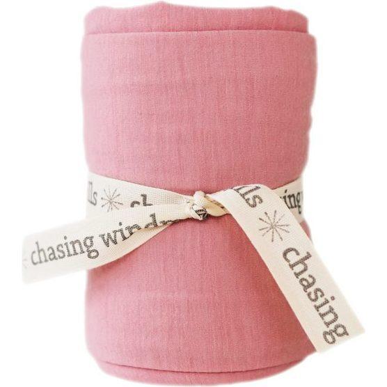 Merino Wool Swaddle Blanket, Rose Tan