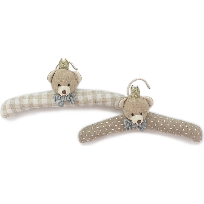 Prince Bear Padded Baby Hangers - Accents - 1