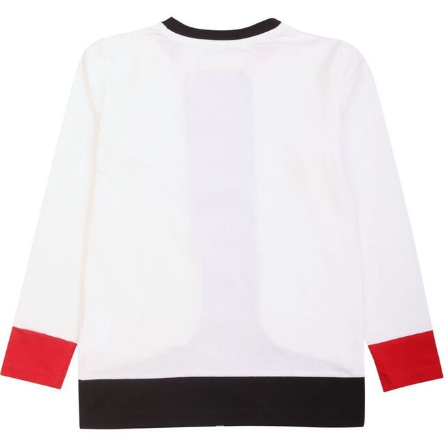 Striped Raceway T-Shirt, White