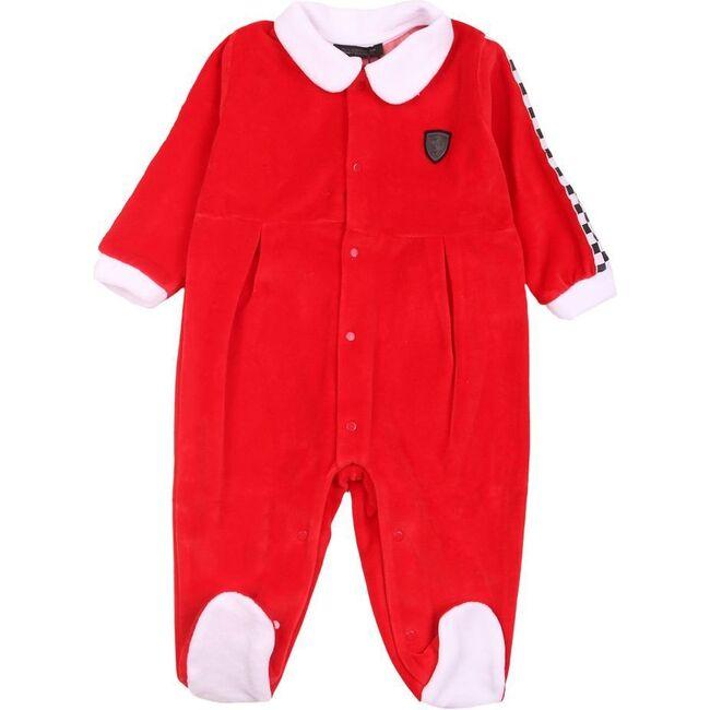 Logo Bodysuit, Red - Rompers - 1