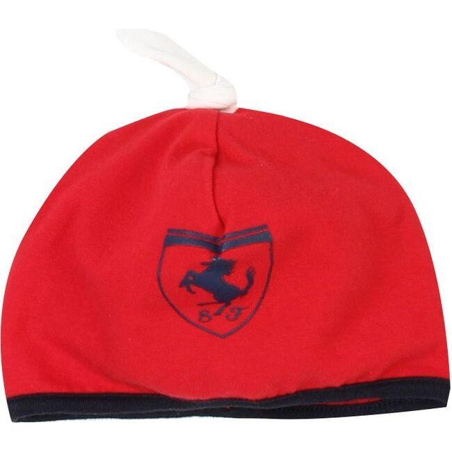 Logo Beanie Cap, Red