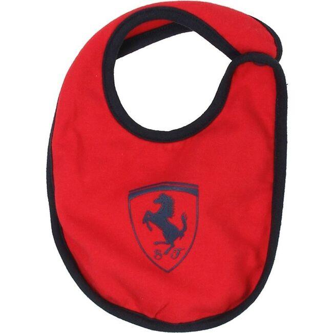 Knit Logo Bib, Red