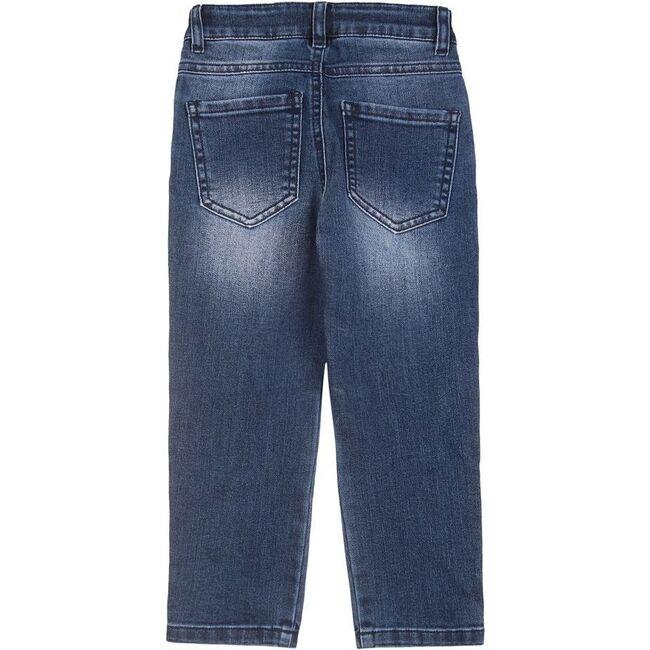 Denim Logo Jeans, Blue