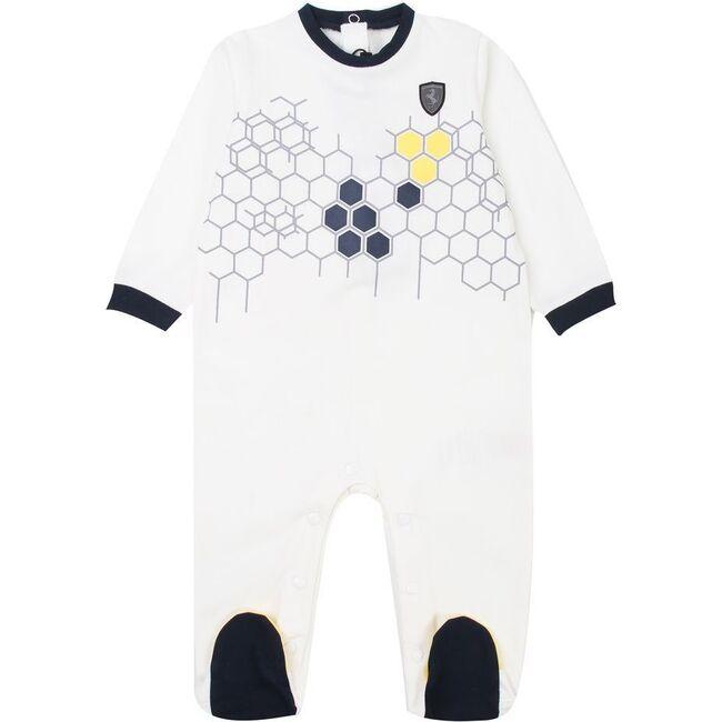 Geo Logo Bodysuit, White - Rompers - 1