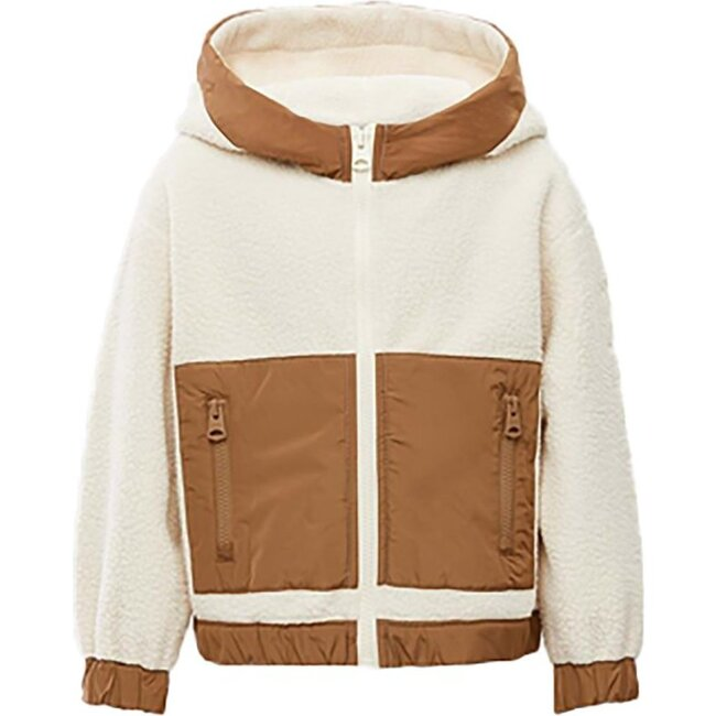 Toddler Brady Fleece Jacket, Cream