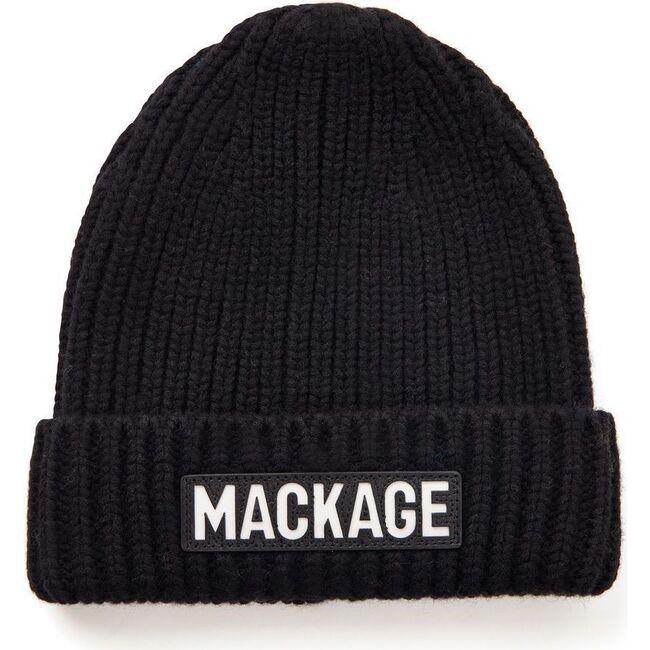 Jude Knit Logo Hat, Black