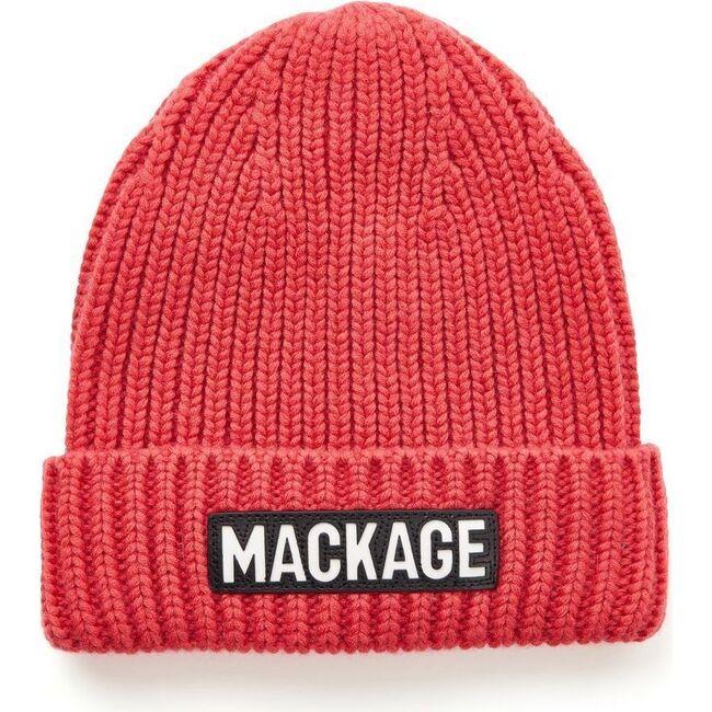Jude Knit Logo Hat, Red