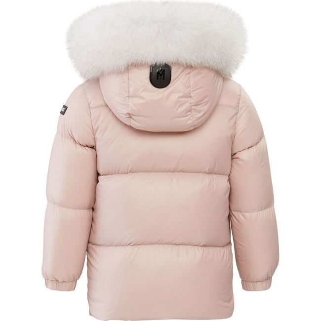 Baby Morgan Hooded Down Jacket, Pink