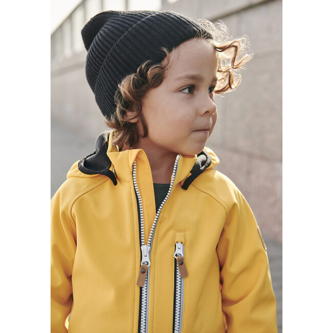 Vantti Water & Dirt Repellent Soft-Shell Jacket with Fleece Liner and Detachable Hood, Yellow