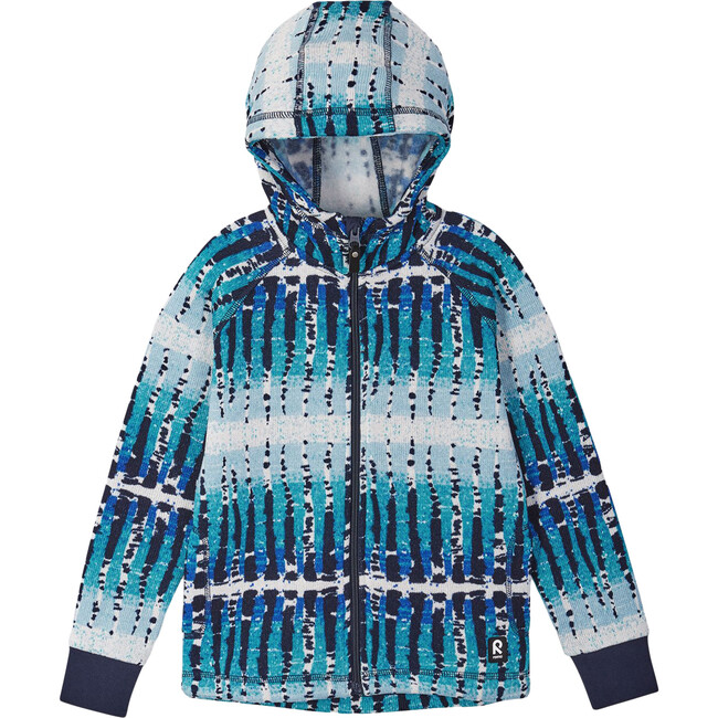 Melange Knit Fleece Northern Full Zip Hoodie, Navy