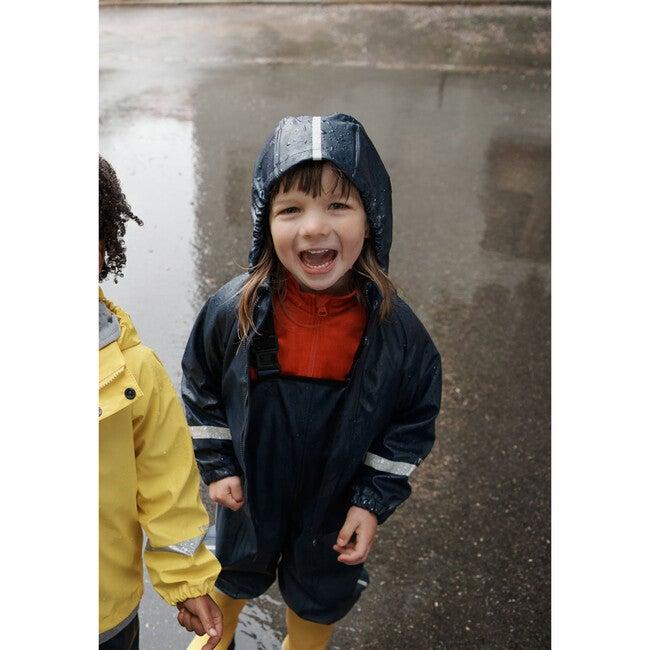 Vesi Waterproof Raincoat with Detachable Hood, Navy