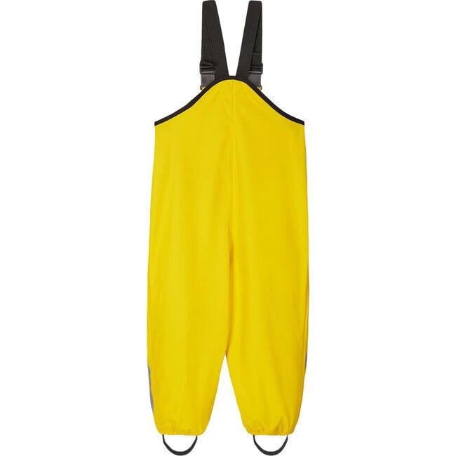Lammikko Waterproof Rain Pants with Welded Seams, Suspenders & Foot Loops, Yellow