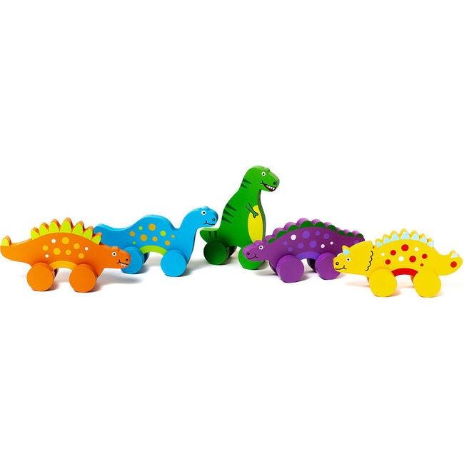 Mini Dinosaur Rollers, Set of 5