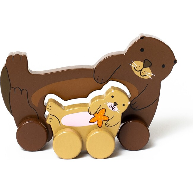 Mommy and Baby Rolling Toy, Otter