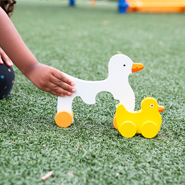 Mommy and Baby Rolling Toy, Duck