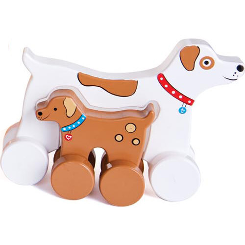 Mommy and Baby Rolling Toy, Dog