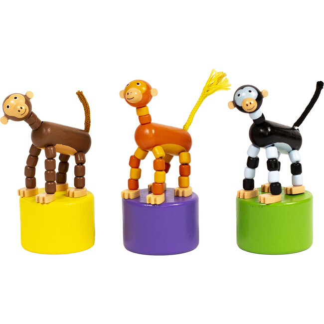 Monkey Push Puppets, Set of 3