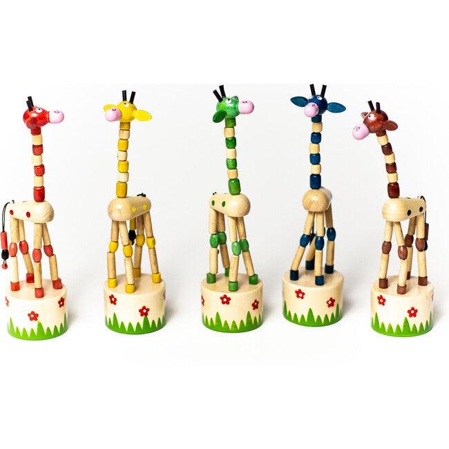 Giraffe Push Puppets, Set of 5